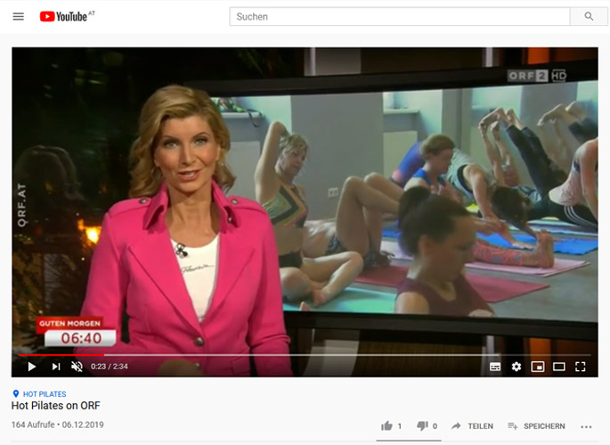 Hot Pilates on ORF